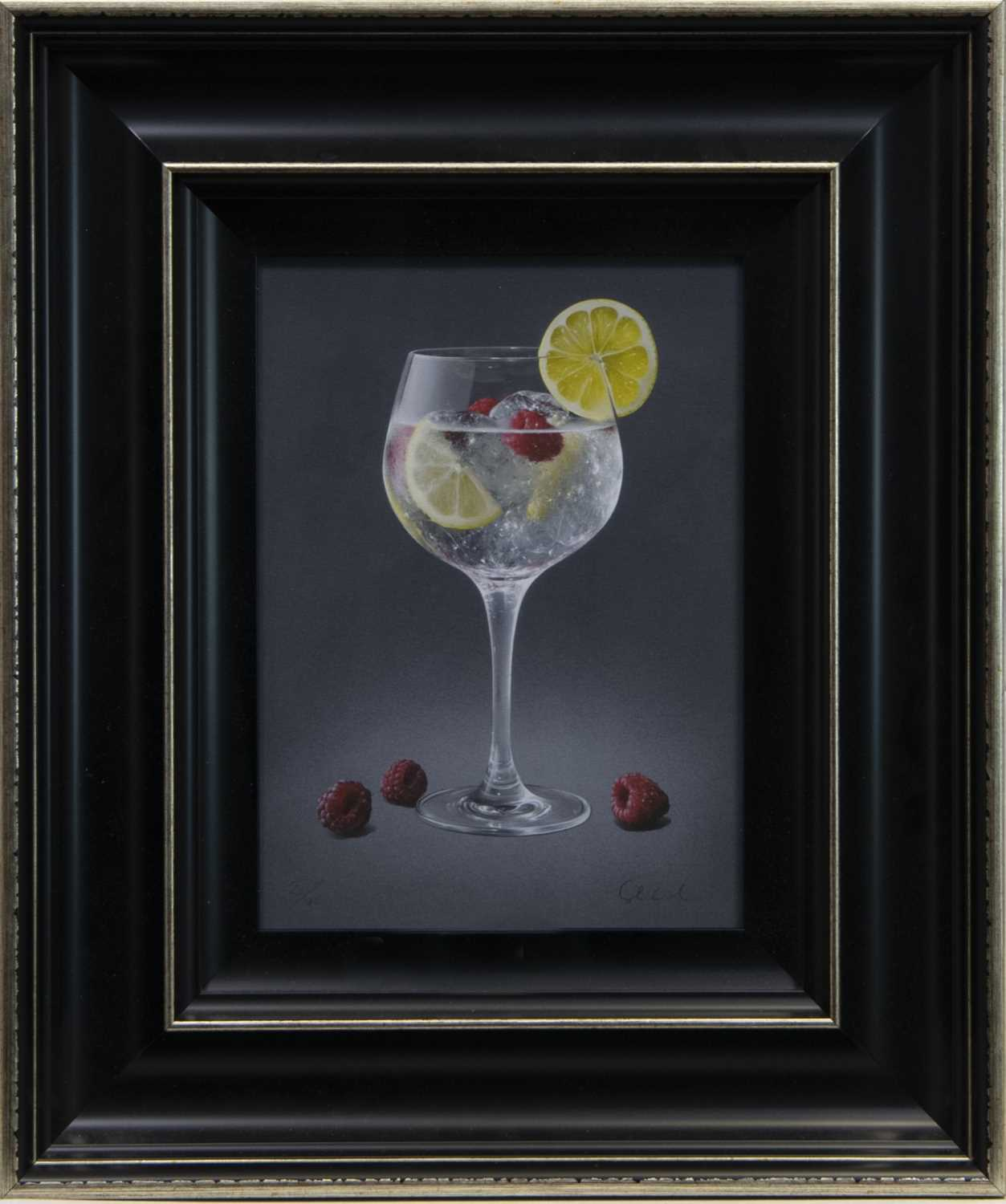 Lot 111 - ICED LEMON AND RASPBERRIES, A GICLEE PRINT BY COLIN WILSON