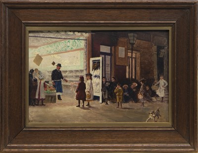 Lot 68 - AT THE SHOP, AN OIL BY J WILLIAMSON