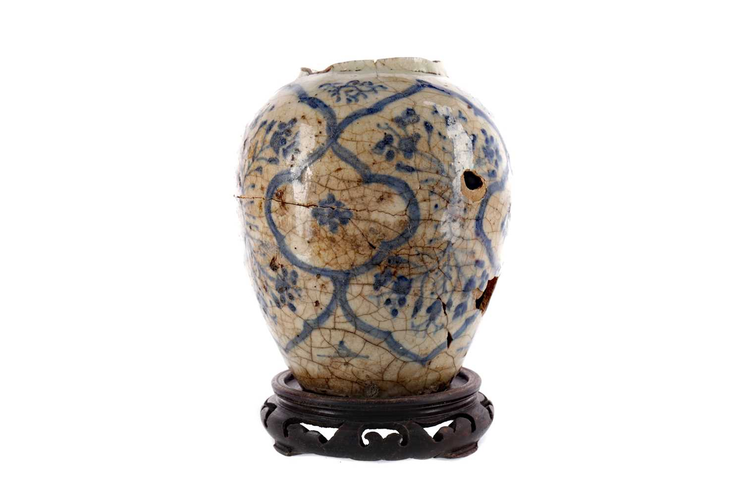 Lot 841 - AN EASTERN CERAMIC DOUBLE GOURD VASE AND OTHER ITEMS