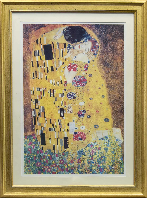 Lot 57 - THE KISS (LIEBESPAAR, LOVERS), AFTER GUSTAV KLIMT