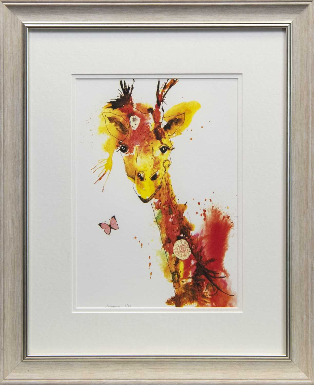 Lot 62 - FLUTTERBY, A GICLEE BY SARAH WEYMAN
