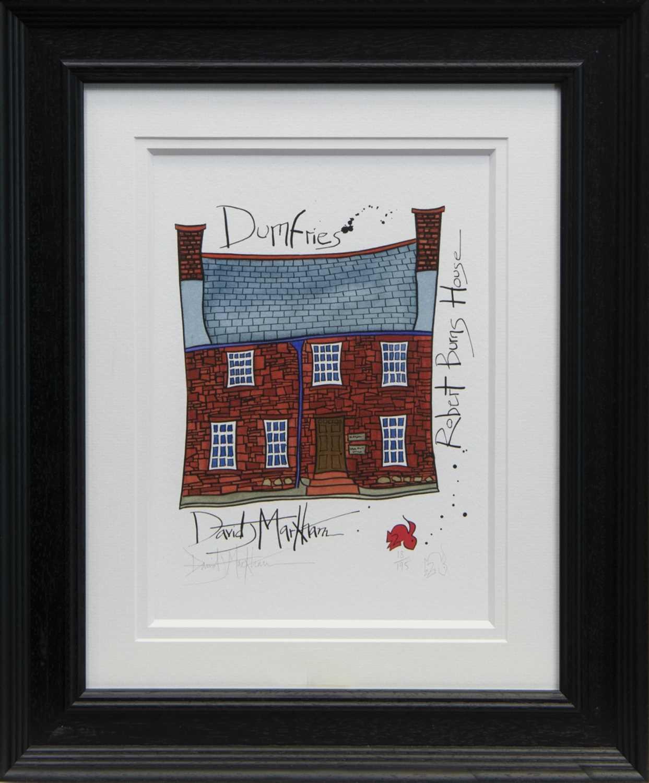 Lot 56 - ROBERT BURNS HOUSE, DUMFRIES, A PRINT BY DAVID MARKHAM