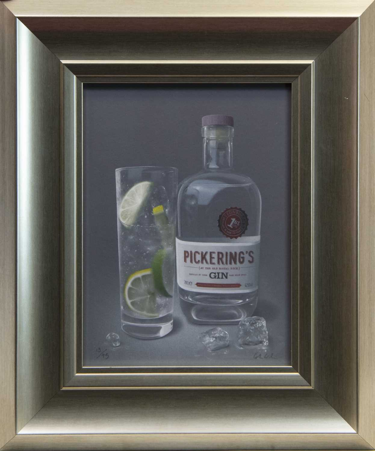 Lot 156 - PICKERING'S GIN, A GICLEE PRINT BY COLIN WILSON