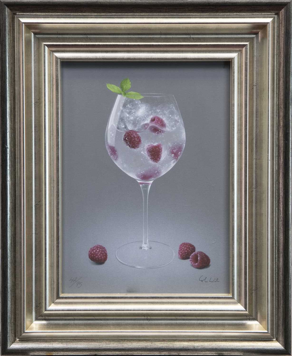 Lot 167 - RASPBERRIES AND TONIC, A GICLEE PRINT BY COLIN WILSON