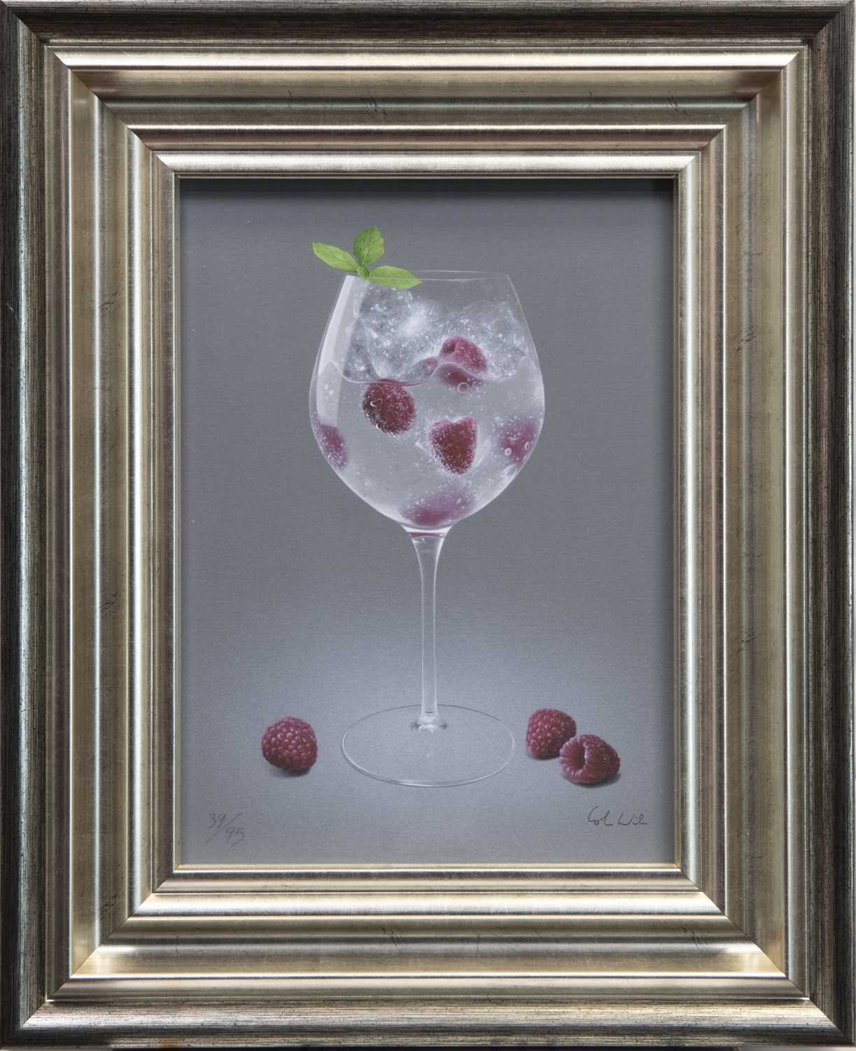 Lot 150 - RASPBERRIES AND TONIC, A GICLEE PRINT BY COLIN WILSON