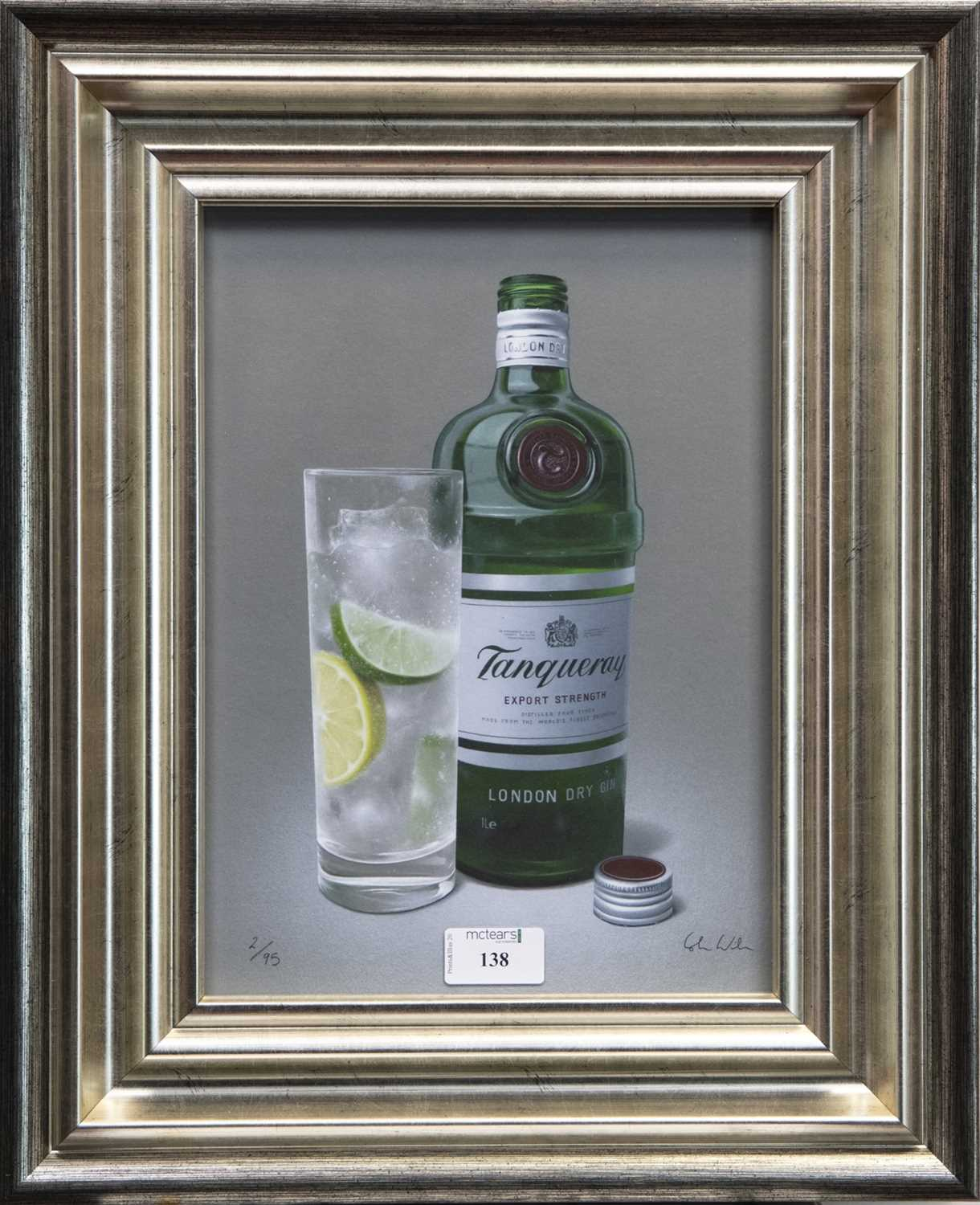 Lot 138 - TANTALISING TANQUERAY GIN, A GICLEE PRINT BY COLIN WILSON