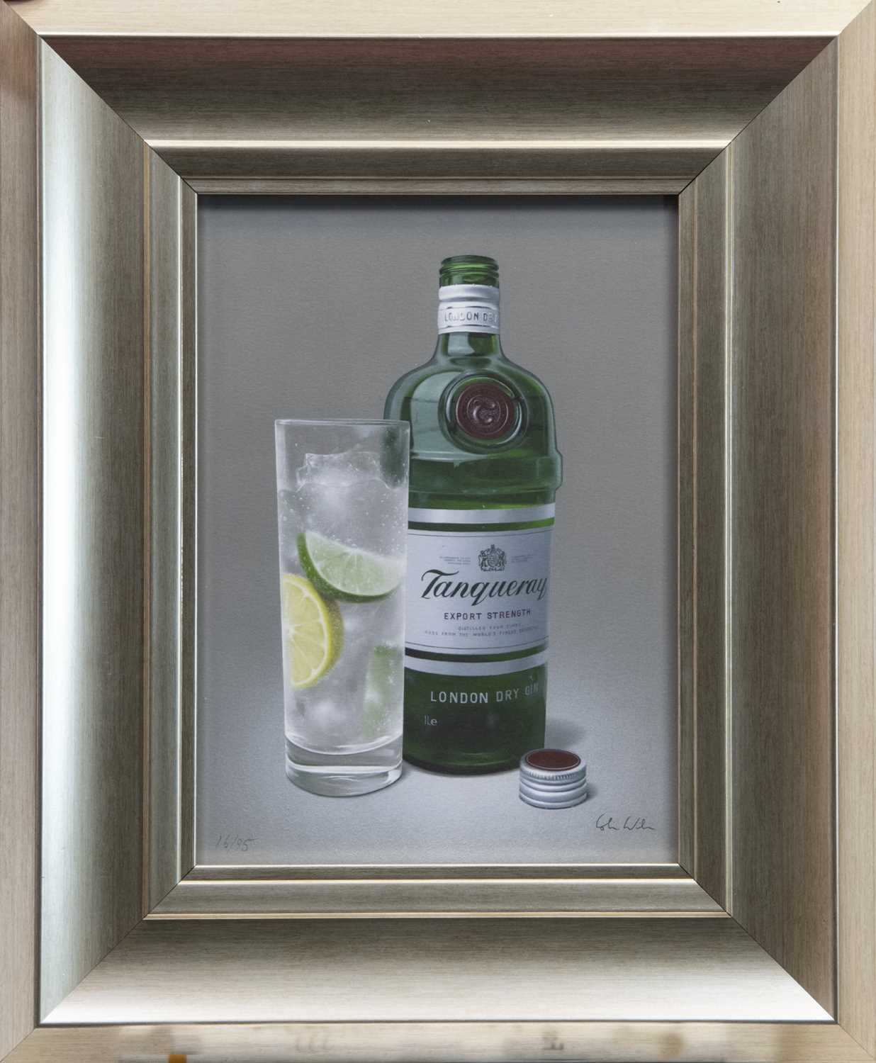 Lot 132 - TANTALISING TANQUERAY GIN, A GICLEE PRINT BY COLIN WILSON