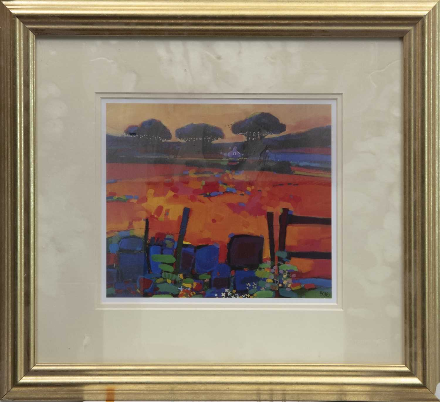 Lot 145 - SCOTTISH MEADOW SCENE, A FRAMED PRINT