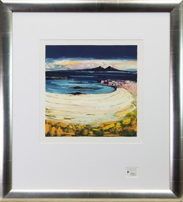 Lot 205 - CROIG BEACH, ISLE OF MULL, A SIGNED PRINT BY JOLOMO