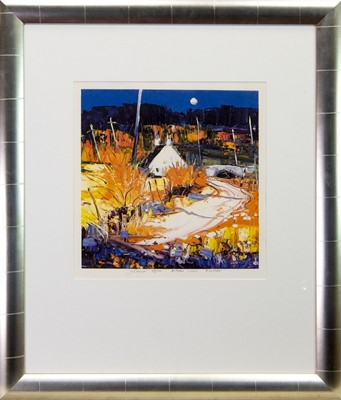 Lot 209 - AUTUMN LIGHT KINTYRE, A SIGNED PRINT BY JOLOMO