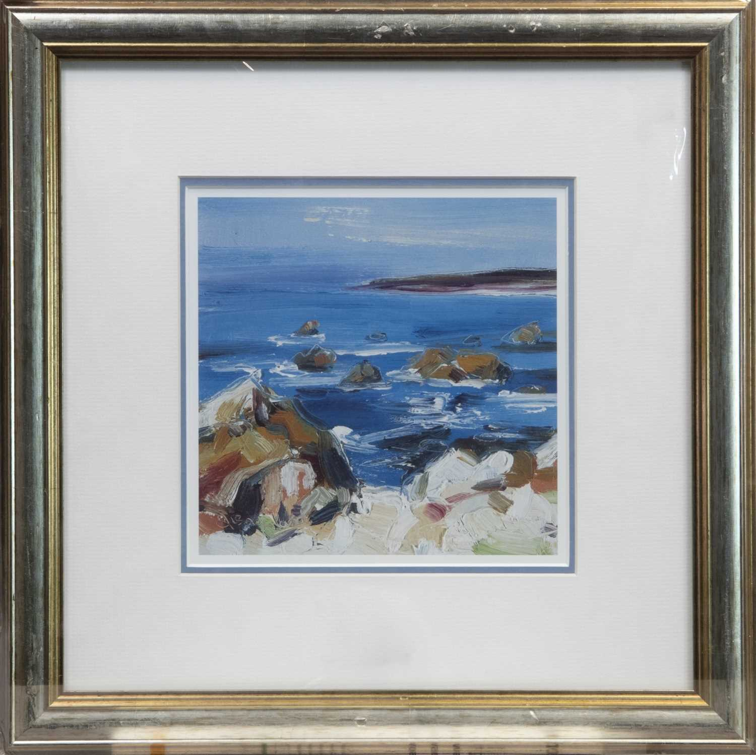 Lot 149 - ROCK POOL, A FRAMED PRINT