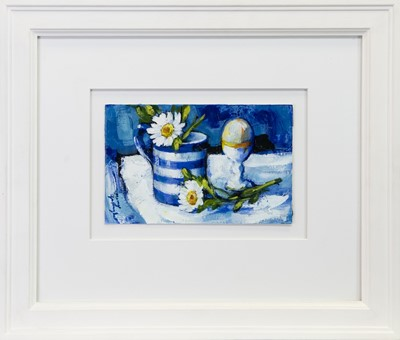 Lot 212 - STILL LIFE, AN ACRYLIC BY MARY GALLAGHER