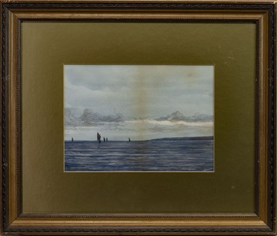 Lot 417 - SAILING, A WATERCOLOUR BY P MACGREGOR WILSON