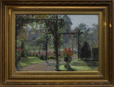 Lot 419 - POLLOK HOUSE GARDENS, A WATERCOLOUR BY ELLIOT MARTEN