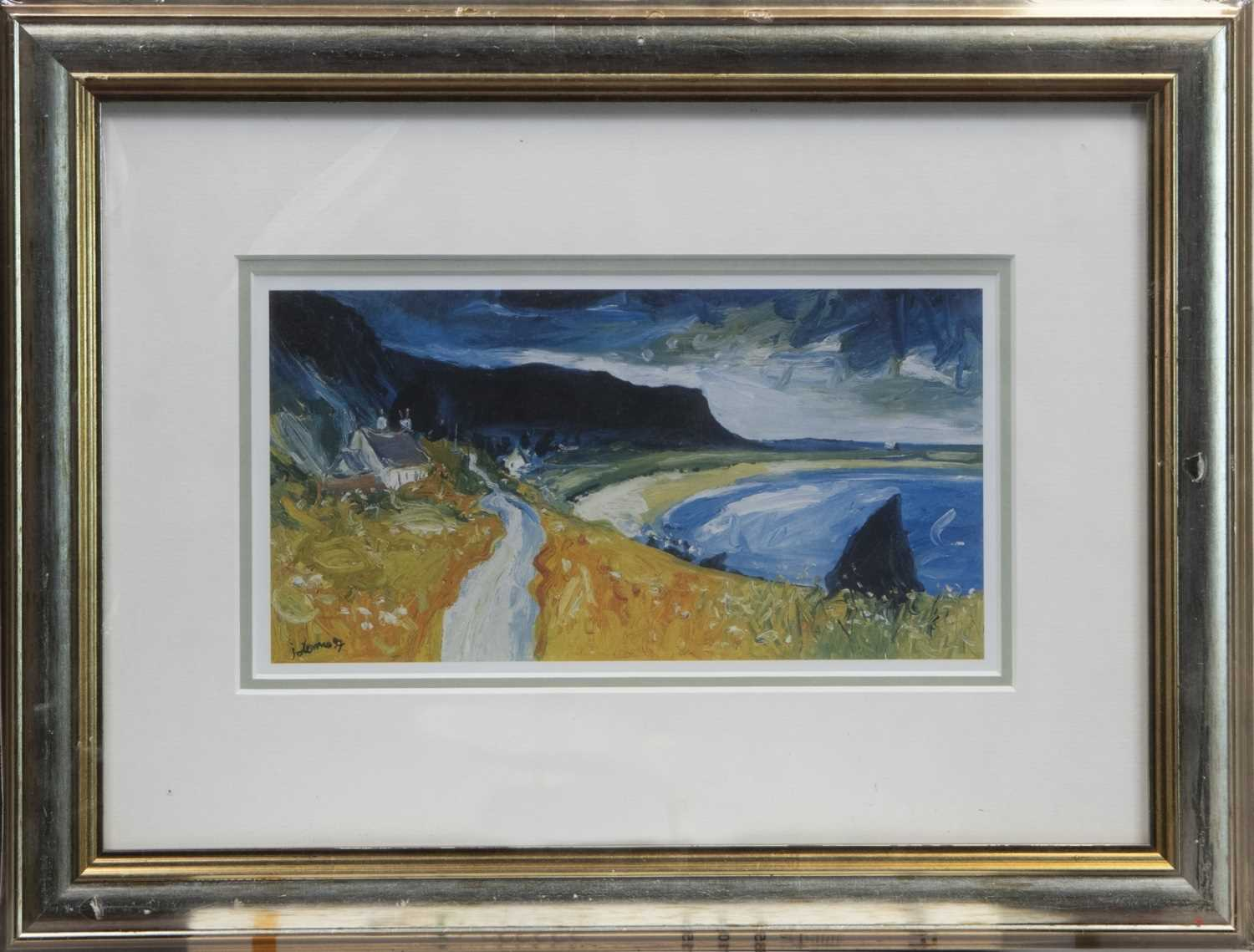 Lot 107 - YELLOW BEACH, A JOLOMO PRINT