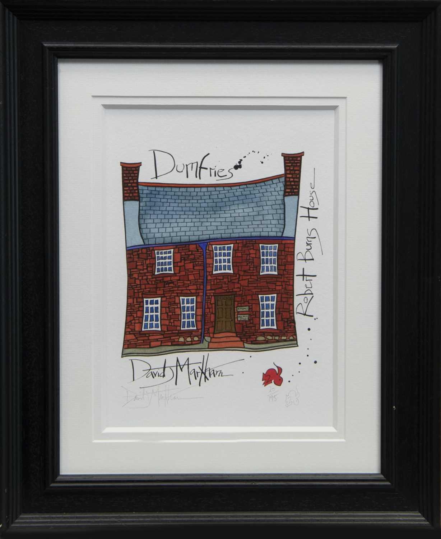 Lot 47 - ROBERT BURNS HOUSE, DUMFRIES, A PRINT BY DAVID MARKHAM