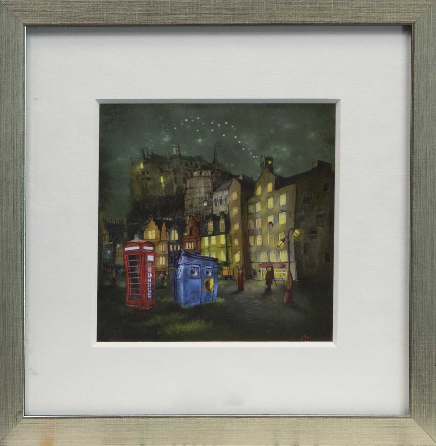 Lot 106 - THE CITY AT NIGHT, A FRAMED PRINT