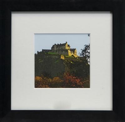 Lot 82 - EDINBURGH CASTLE, A FRAMED PRINT