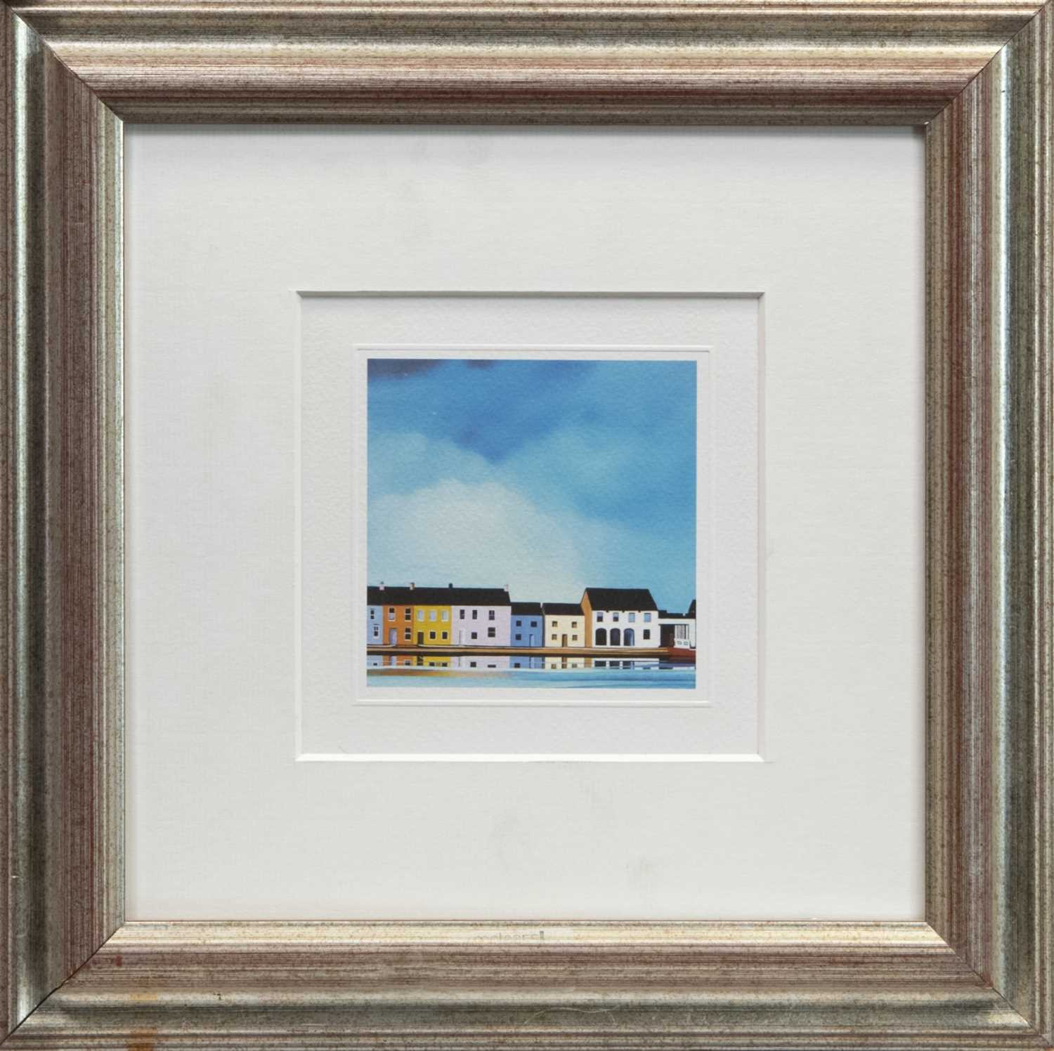 Lot 151 - BLUE DAY, A FRAMED PRINT