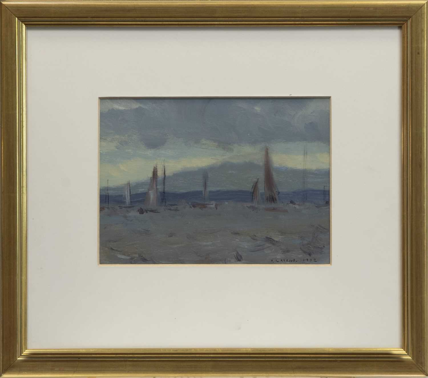 Lot 154 - BEFORE THE RACE, INVERKIP, AN OIL BY IRENE LESLEY MAIN