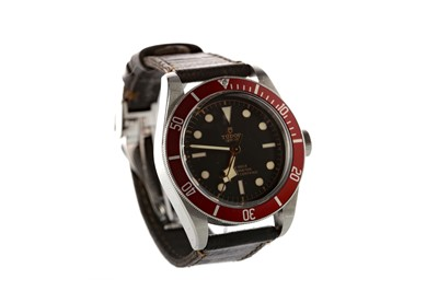 Lot 709 - A GENTLEMAN'S TUDOR BLACK BAY STAINLESS STEEL AUTOMATIC WRIST WATCH