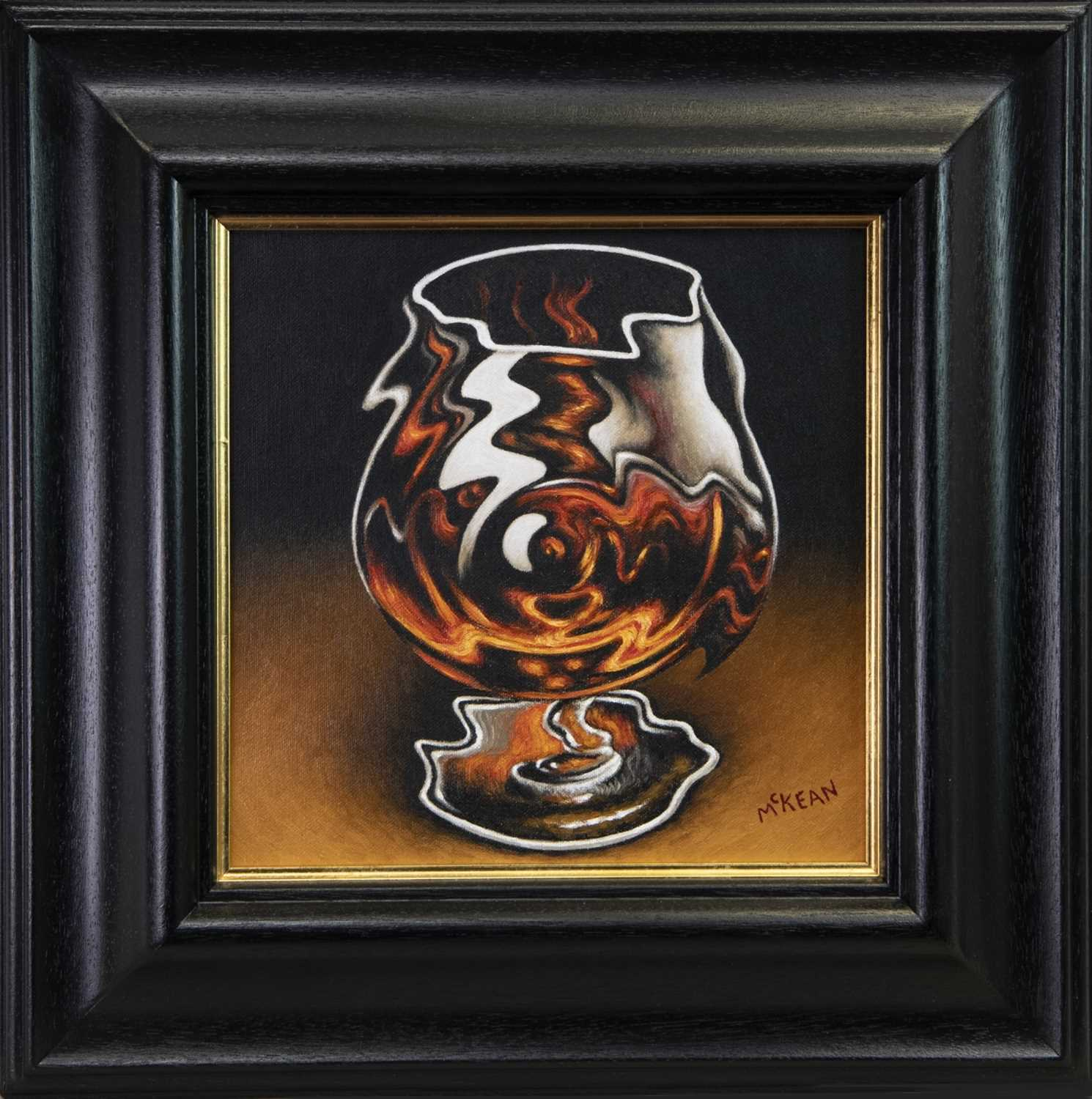 Lot 74 - A DROP TOO MUCH, AN OIL BY GRAHAM MCKEAN