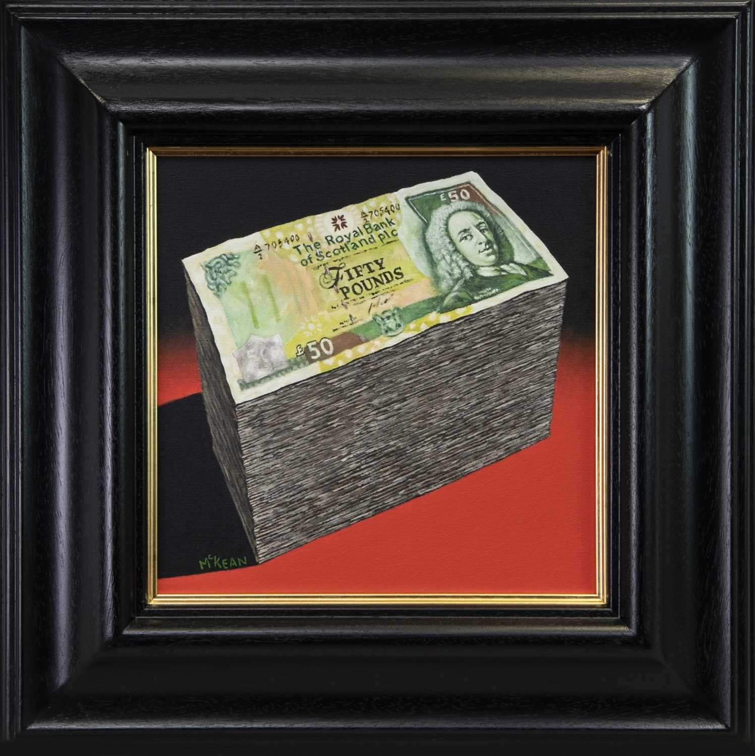 Lot 78 - BACK IN THE BLACK, AN OIL BY GRAHAM MCKEAN