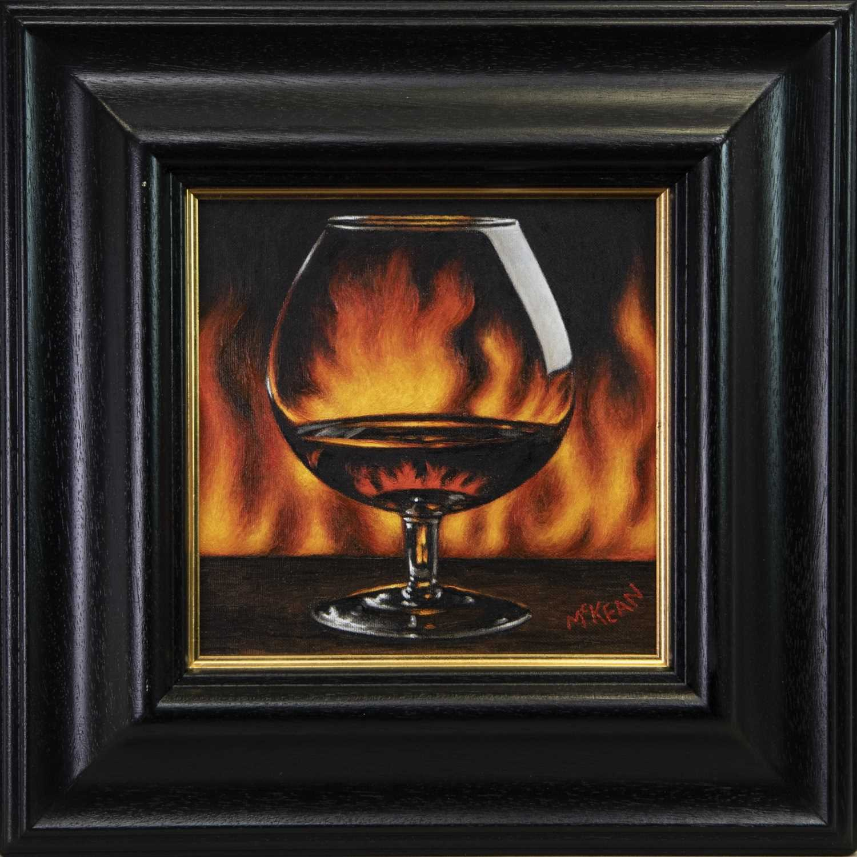 Lot 84 - LIGHT MY FIRE, AN OIL BY GRAHAM MCKEAN