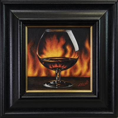 Lot 84 - LIGHT MY FIRE, AN OIL BY GRAHAM MCKEAN