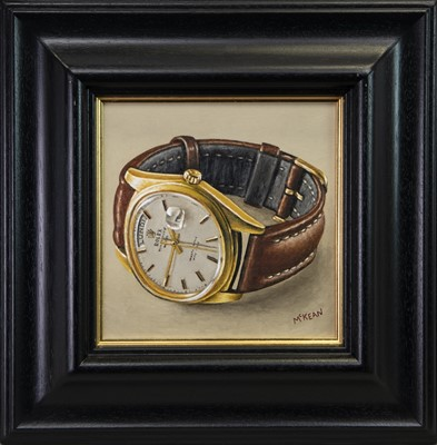 Lot 87 - TIK TOK, AN OIL BY GRAHAM MCKEAN
