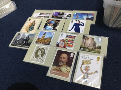 Lot 14 - A LOT OF  FIVE STAMP ALBUMS ALONG WITH POSTCARDS