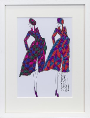 Lot 217 - ORIGINAL ILLUSTRATION OF DESIGNED FOR LAURA ASHLEY, BY ROZ JENNINGS