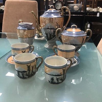 Lot 56 - A JAPANESE PART COFFEE SERVICE
