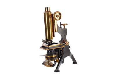 Lot 1710 - A BRASS MONOCULAR MICROSCOPE BY W. WATSON & SONS