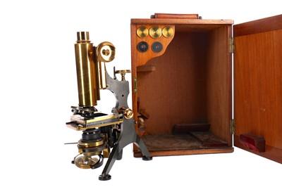 Lot 1710 - A BRASS MONOCULAR MICROSCOPE BY W. WATSON & SONS