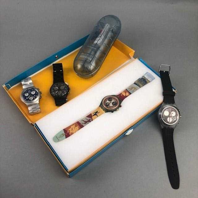 Lot 8 - A LOT OF FOUR OLYMPIC SWATCH WATCHES