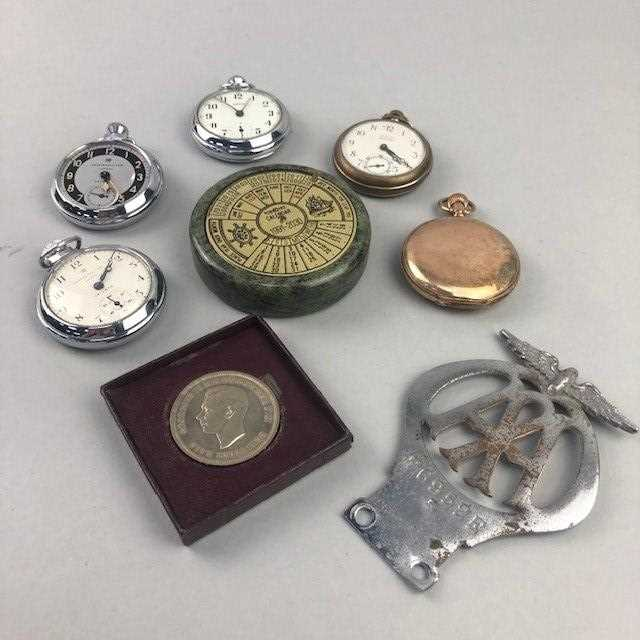 Lot 9 - A LOT OF FIVE POCKET WATCHES