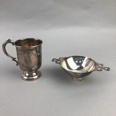 Lot 24 - A SILVER QUIACH AND CHRISTENING MUG