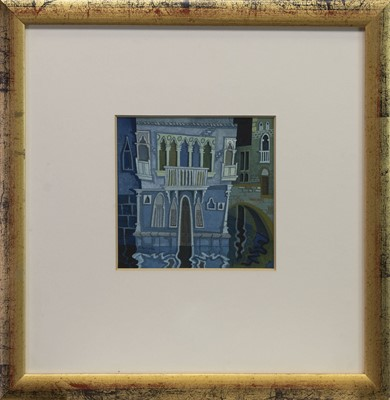 Lot 422 - VENETIAN SCENE, A GOUACHE BY RICHARD NORMAN