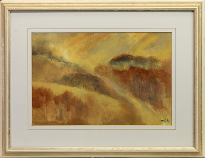 Lot 423 - GOLDEN, AN ACRYLIC BY YVONNE TAYLOR