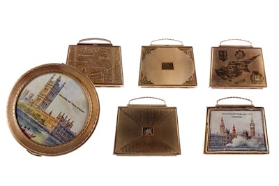 Lot 1726 - A LOT OF MAJESTIC COMPACTS INCLUDING A MAJESTIC MUSICAL SUITCASE COMPACT
