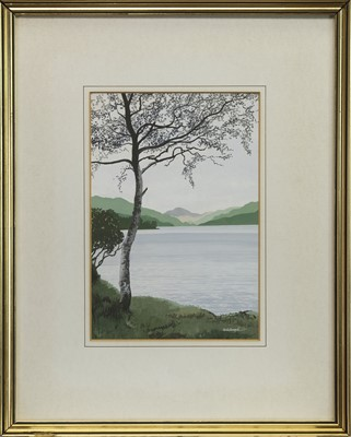 Lot 424 - VIEW OF THE BEN, A WATERCOLOUR BY FRANK COLCLOUGH