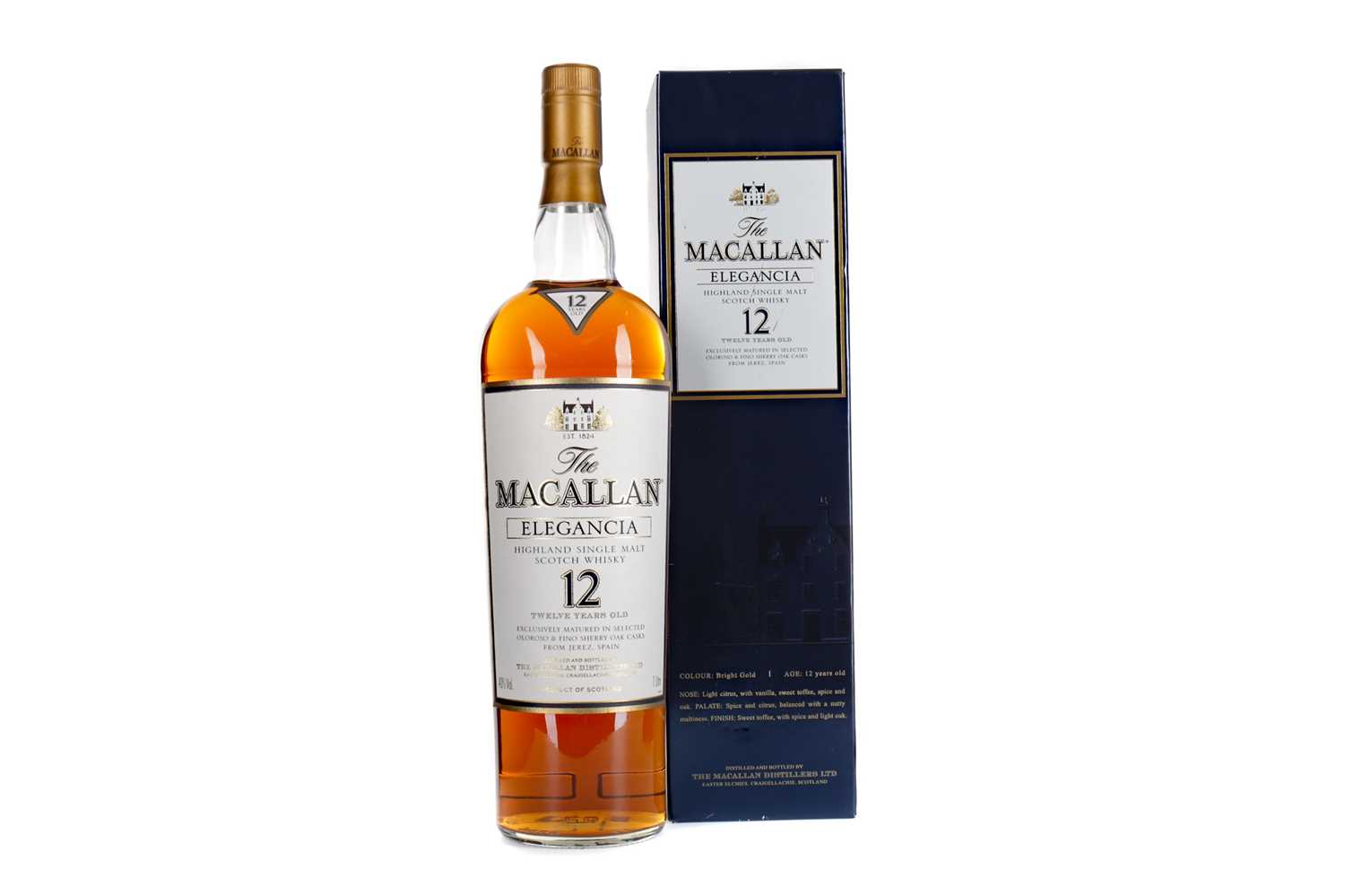 Lot 115 - MACALLAN ELEGANCIA 12 YEARS OLD - ONE LITRE