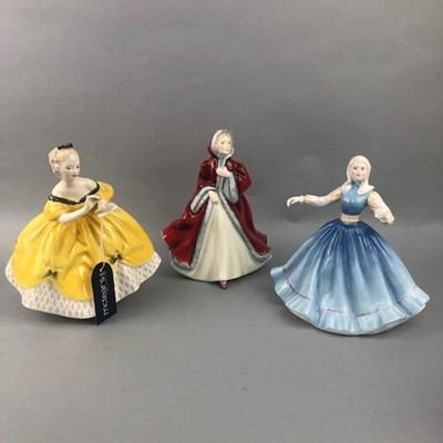 Lot 136 - A ROYAL DOULTON FIGURE OF GAIL AND SIX OTHER ROYAL DOULTON FIGURES