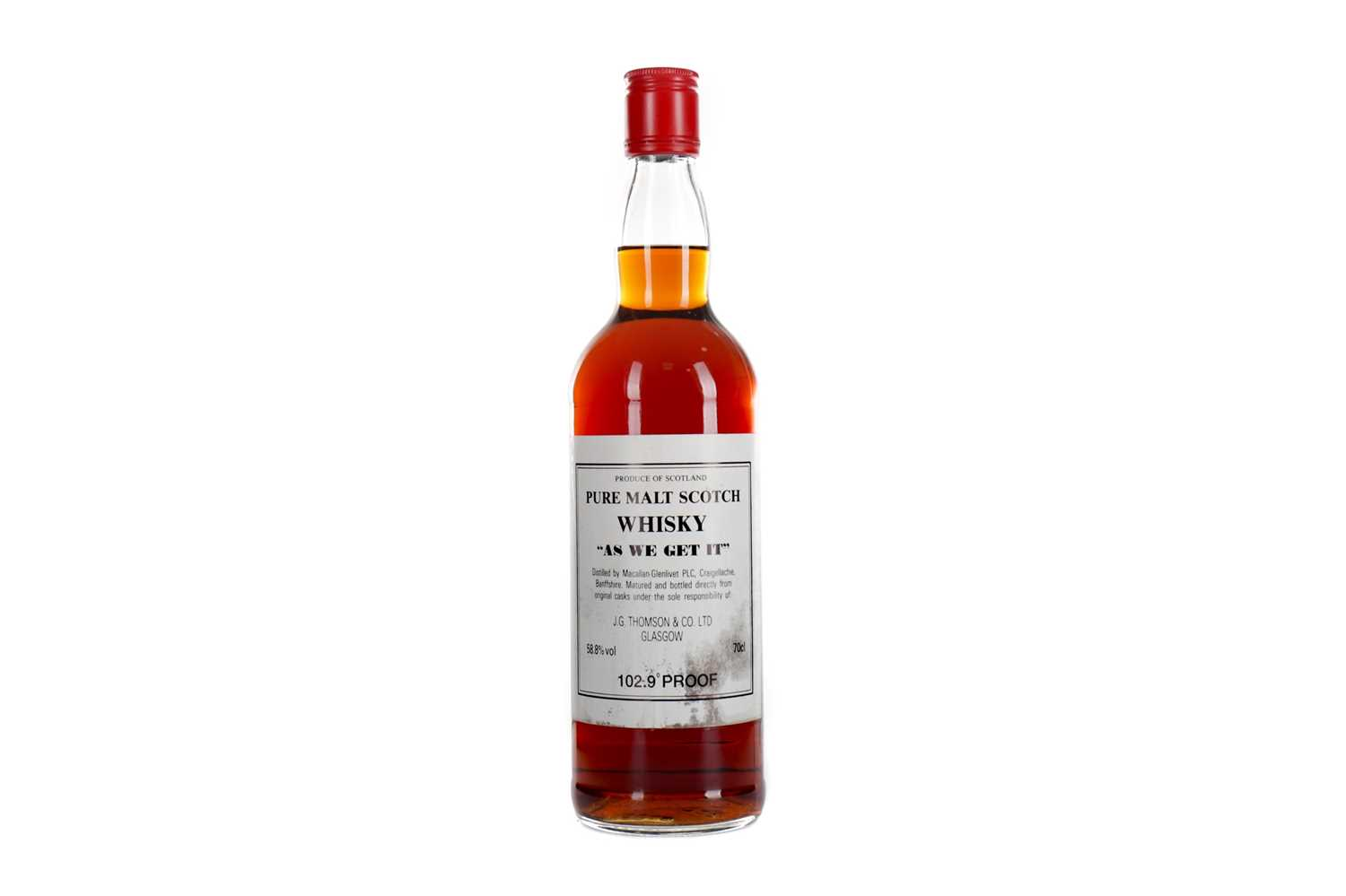 Lot 126 - MACALLAN-GLENLIVET 'AS WE GET IT' 102.9° PROOF