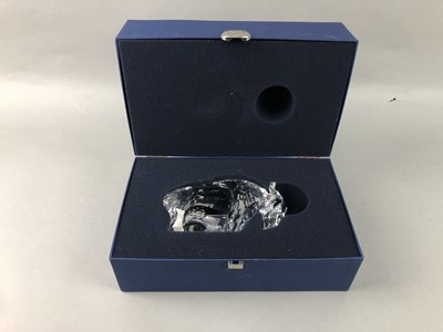 Lot 144 - A SWAROVSKI FIGURE OF A BISON AND OTHERS