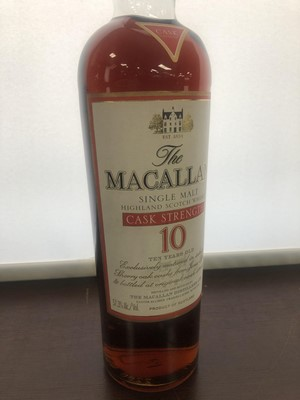 Lot 141 - MACALLAN CASK STRENGTH 10 YEARS OLD - ONE LITRE