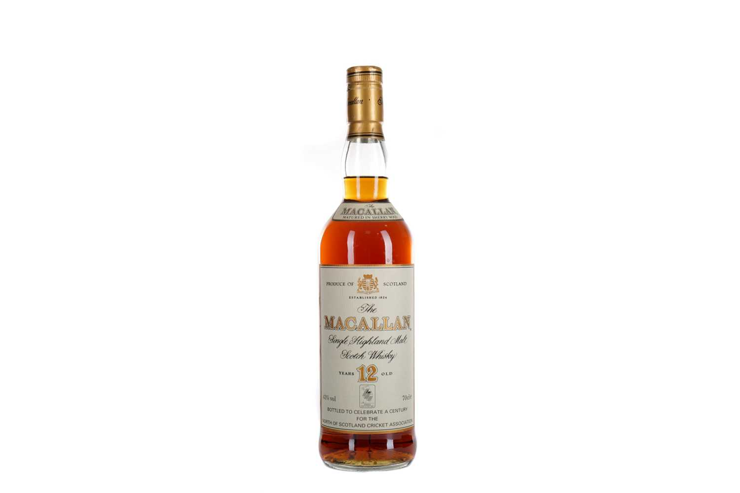 Lot 143 - MACALLAN 12 YEARS OLD  NORTH OF SCOTLAND CRICKET ASSOCIATION CENTENARY