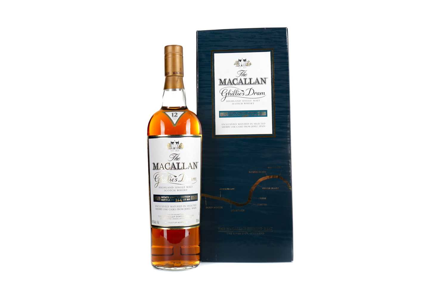 Lot 154 - MACALLAN GHILLIE'S DRAM 12 YEARS OLD