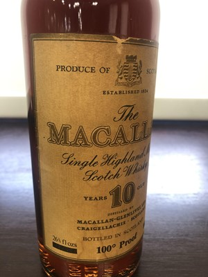 Lot 184 - MACALLAN 10 YEARS OLD 100° PROOF